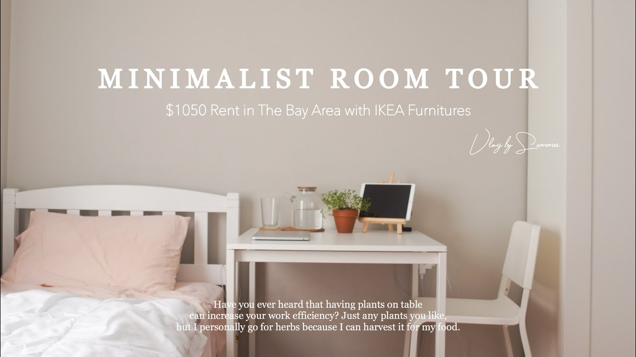 Minimalist Room Tour, My $1050 Rent in The Bay Area