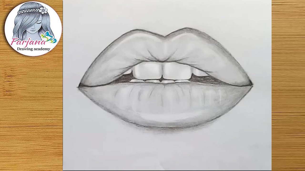 How to draw Lips by pencil step by step   YouTube How to draw Lips by pencil step by step