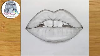 vuclip How to draw Lips by pencil step by step