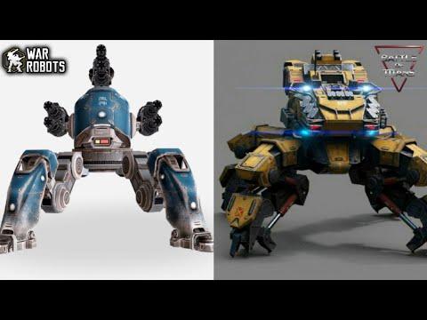War Robots' Raijin & Fujin VS Battle of Titans' Nelly & Mite: Full Comparison!