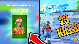 How to get HIGH/MORE Kills Win in Fortnite! 23 Kills with NEW Nog Ops Skin! (Console Ps4/Xbox tips)
