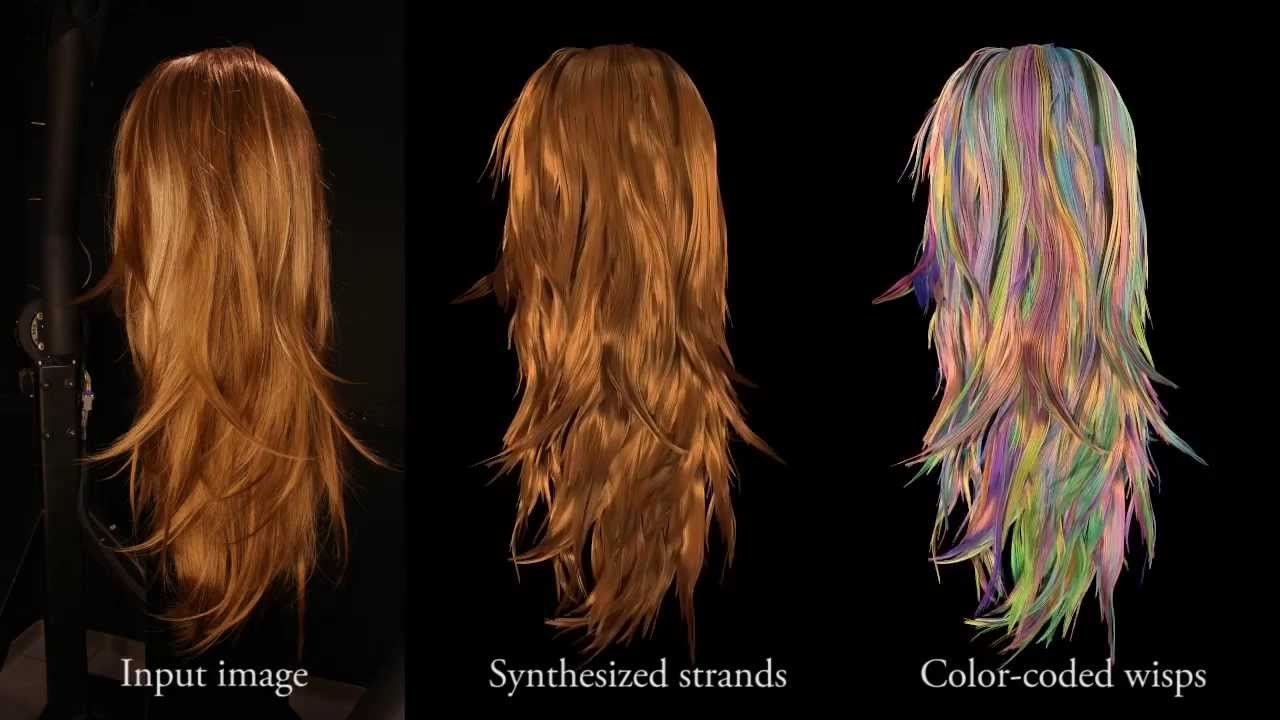 Structure Aware Hair Capture Siggraph 2013 Youtube