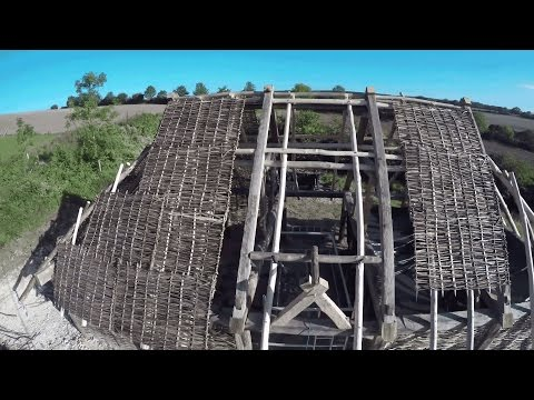 Building a Saxon Longhouse - Butser Ancient Farm, UK, Part 4