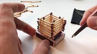 как сделать кубик из спичек без клея? / how to make cube of matches without glue?