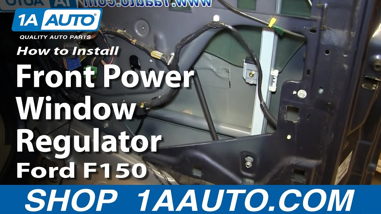 how to replace front power window regulator 04 08 ford f150 youtube ford ranger power window wiring diagram ford power window diagram [ 1280 x 720 Pixel ]