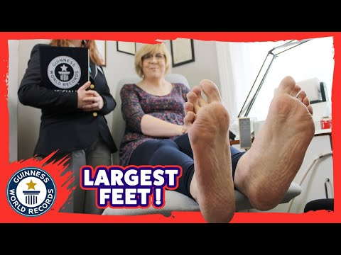 Largest female feet - Guinness World Records