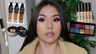 FULL FACE USING NYX COSMETICS | ONE BRAND TUTORIAL