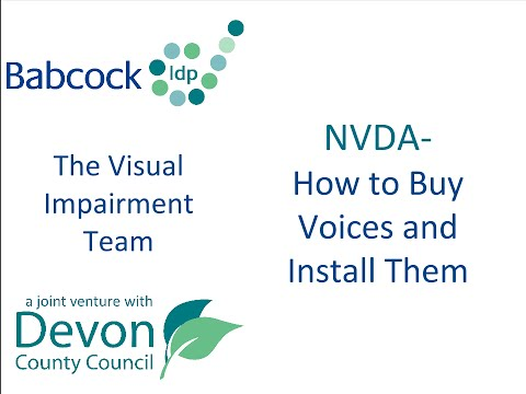 NVDA: How To Buy Voices and Install Them