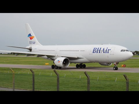 BH Air   A330-223   LZ-AWA   Landing & Takeoff At East Midlands Airport   HD