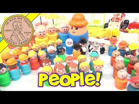 Giant Fisher-Price Little People Play Family Sets Accessories Lot - Fun!