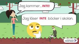 Ruotsin sanajärjestys (kielteinen, kysymyslause)