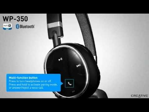 29917e69893 Creative WP-350 Bluetooth Headphones with Mic - YouTube