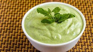 Dahi Pudina Chutney/Mint Yogurt Chutney