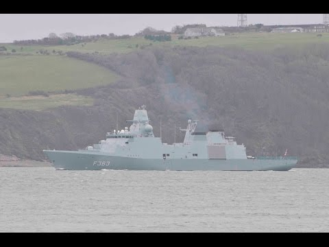 NATO WARSHIPS RETURN FROM EXERCISE TO DEVONPORT NAVAL BASE -