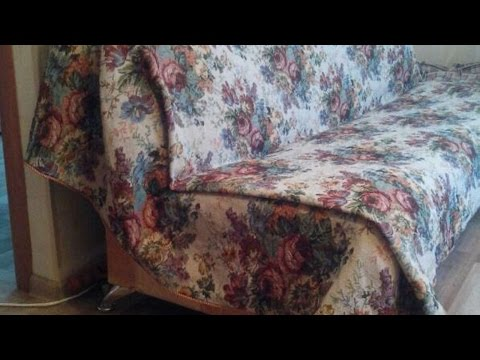 How To DIY A Fabric Sofa Cover - DIY Home Tutorial - Guidecentral