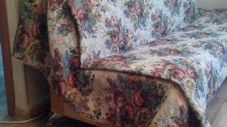 How To Diy A Fabric Sofa Cover - Diy Home Tutorial - Guidecentral