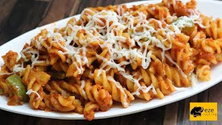 Red sauce pasta recipe || how to make pasta || easy and simple pasta recipe by eze cooking
