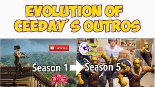 Evolution of Ceeday's Fortnite Outros (Season 1 - Season 5)