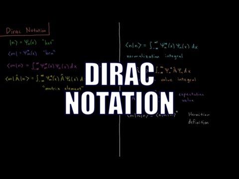 Quantum Chemistry 4.8 - Dirac Notation