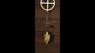 Solid Brass Wind Chimes with Spent Casings