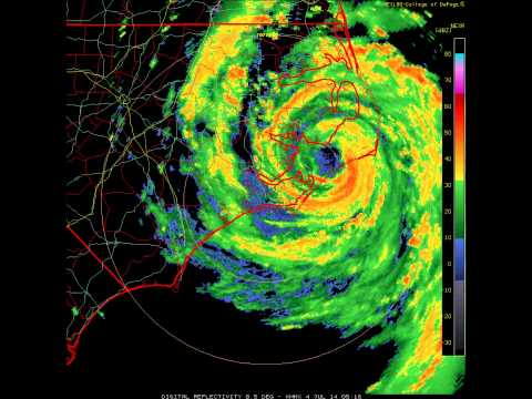 Hurricane Arthur Landfall - Radar