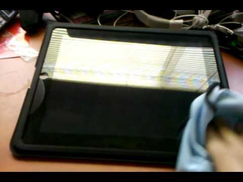 Cleaning iPad...