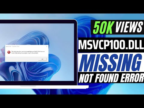 How To Fix msvcp100.dll Missing Error Windows 10/8.1/7