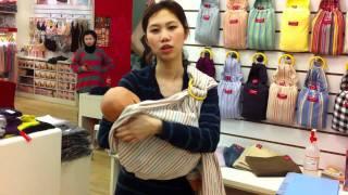 媽媽餵揹巾教學- 橫揹 / Mamaway baby sling - Cuddle position