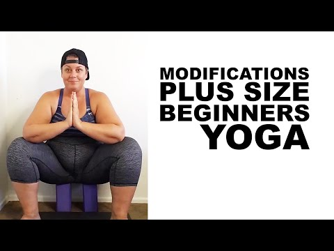 Beginners Plus Size Yoga Modifications – squat figure 4 triangle warrior