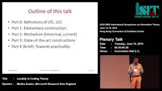 Madhu Sudan: Locality in Coding Theory
