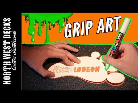 Nickelodeon Grip Tape Art!