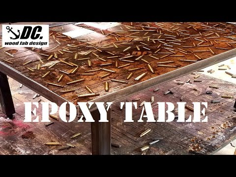 DC. EPOXY RESIN CRAFT TABLE. HOW TO.