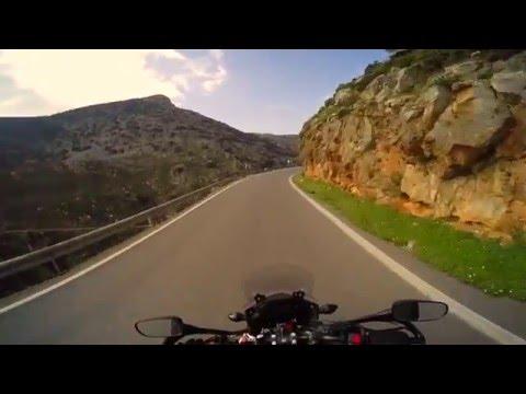 Riding from Heraklion to Kamariotis