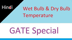 Dry Bulb Temperature, Wet Bulb Temperature, Wet Bulb Depression in Hindi for GATE