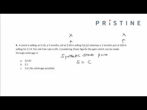 CFA Tutorial: Derivatives (Arbitrage Gain)