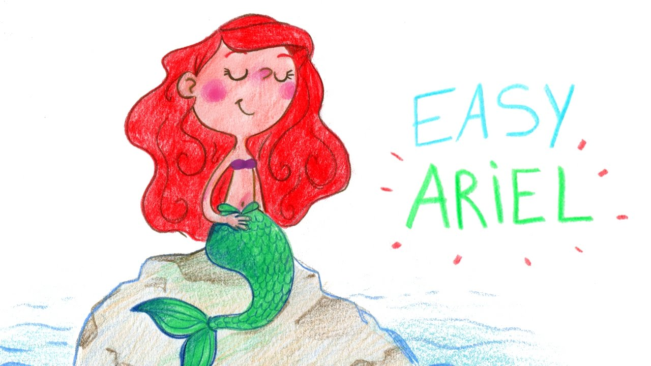 HOW TO DRAW ARIEL (LITTLE MERMAID,EASY WAY) CUTE / COMMENT ...