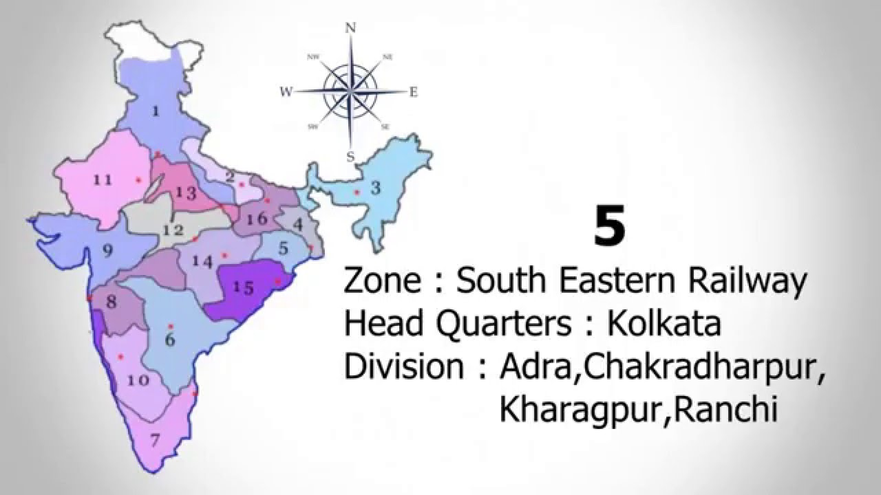 Zones and Divisions of Indian Railways  RRB Exam Preparation