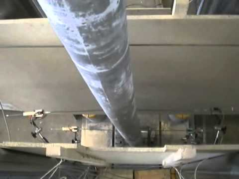 Testing of reinforced, centrally loaded column - ductile failure