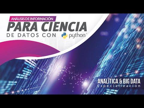 CURSO ANALISIS DE INFORMACION PARA LA CIENCIA DE DATOS CON PYTHON ( Alfonso Chiquisá )
