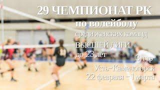 Куаныш 2 Караганда 2 Волейбол Высшая лига U 23 Женщины 3 тур Усть Каменогорск