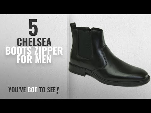 Top 10 Chelsea Boots Zipper [ Winter 2018 ]: alpine swiss Nyon Men's Chelsea Boots Easy Slip On