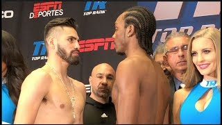JOSE RAMIREZ v AMIR IMAM - OFFICIAL WEIGH IN & HEAD TO HEAD WBC WORLD TITLE CLASH / RAMIREZ v IMAM