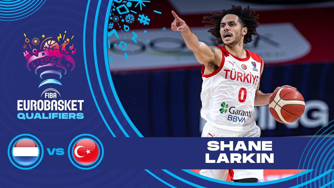 Shane Larkin leading Turkey to their first win in the FIBA EuroBasket 2022 Qualifiers!