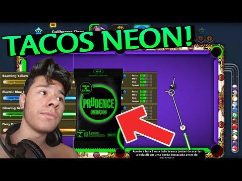 E ESSES TACOS HEIN?? 👀 JOGANDO COM OS NOVOS TACOS DE NEON NO 8 BALL POOL!