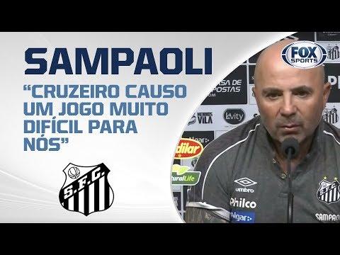 SAMPAOLI FALA APÓS DERROTA DO SANTOS PARA O CRUZEIRO