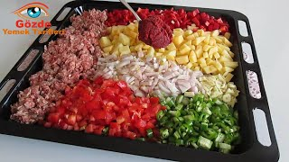 It is chopped, mixed and put in the oven. That is all. My favorite food! Very easy and tasty