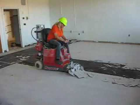 The Bronco Floor Stripper The Flooring And Adhesive Removal - Bronco floor scraper rental