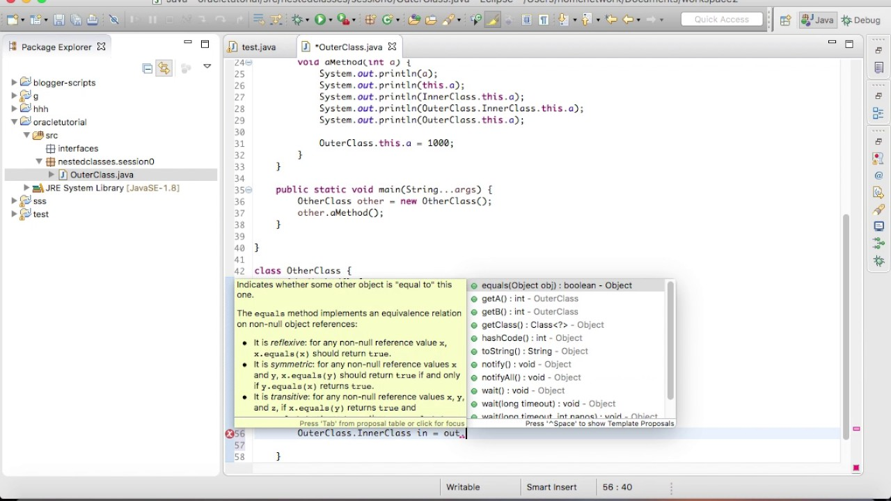 Oracle java tutorials choice image any tutorial examples oracle java tutorial image collections any tutorial examples oracle java tutorial walkthrough nested classes2 youtube oracle baditri Image collections