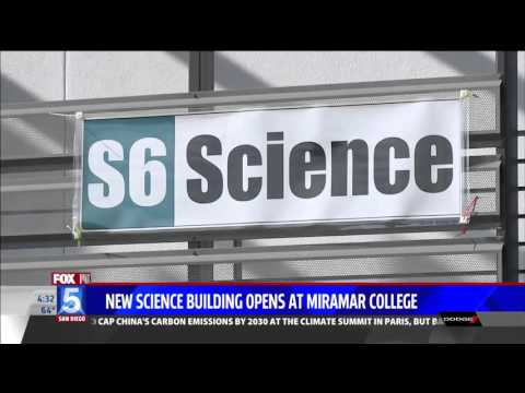 KSWB-SD: San Diego Miramar College Opens Doors to new Science Building