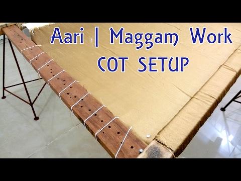 DIY | Aari | Maggam Work Cot Complete Setup at Home | Tutorial !!